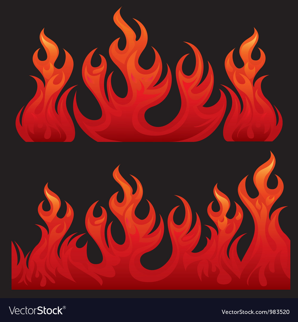 Seamless flaming teksture vector