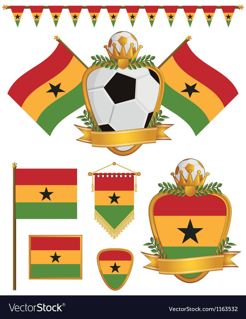 Ghana flags vector