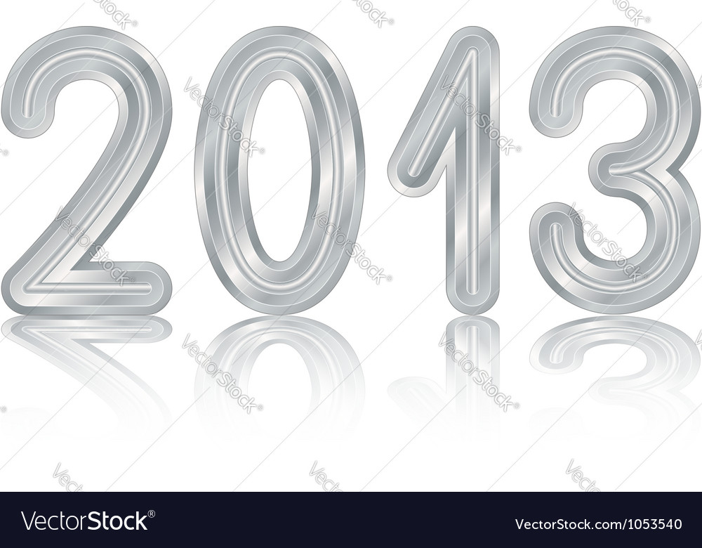 Metallic 2013 design vector
