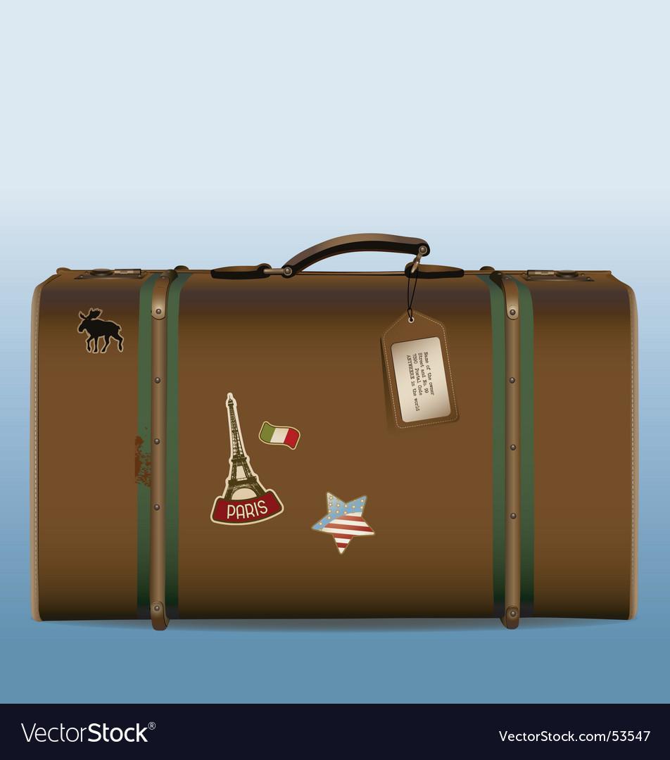 Vintage suitcase vector