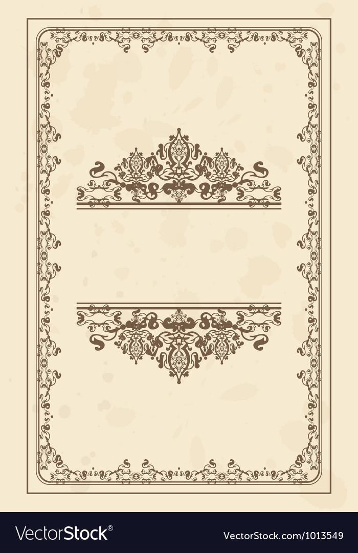 Parchment frame vector