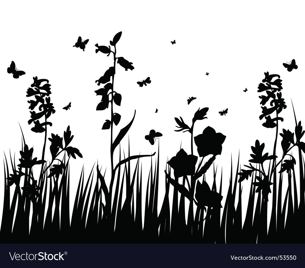 Flower silhouettes vector by angelp Image 53550