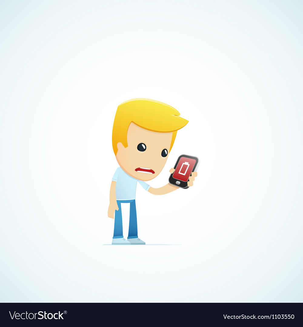 Set of with funny cartoon casual character in vector