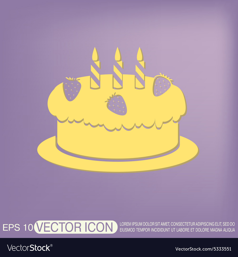 Birthday cake icon vector by Little_cuckoo - Image #5333551 ...