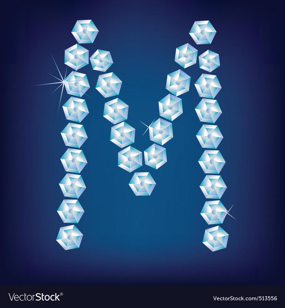 M Alphabet In Diamond Letter Alphabet Diamond alphabet letter m