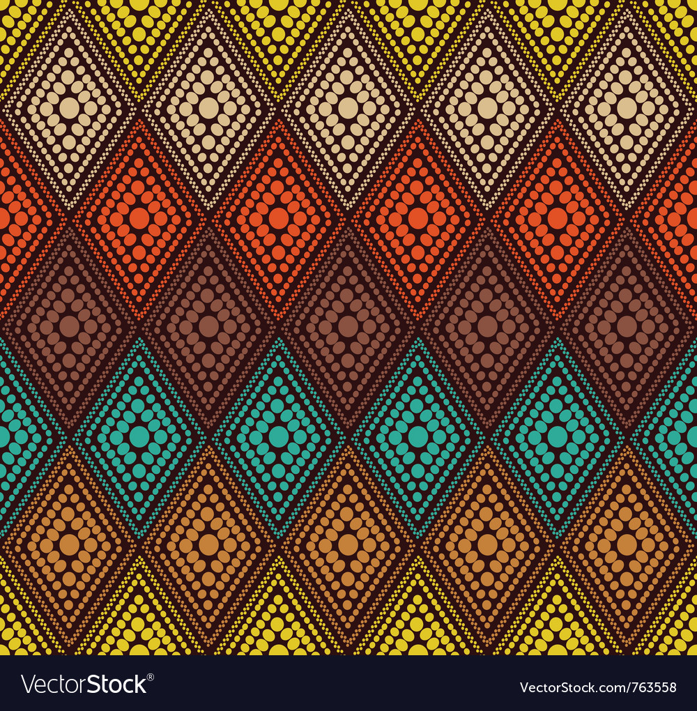 Abstract color dot geometric pattern vector