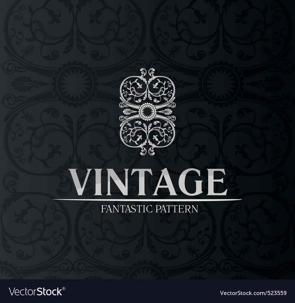 Vintage decor label ornament background emblem vector