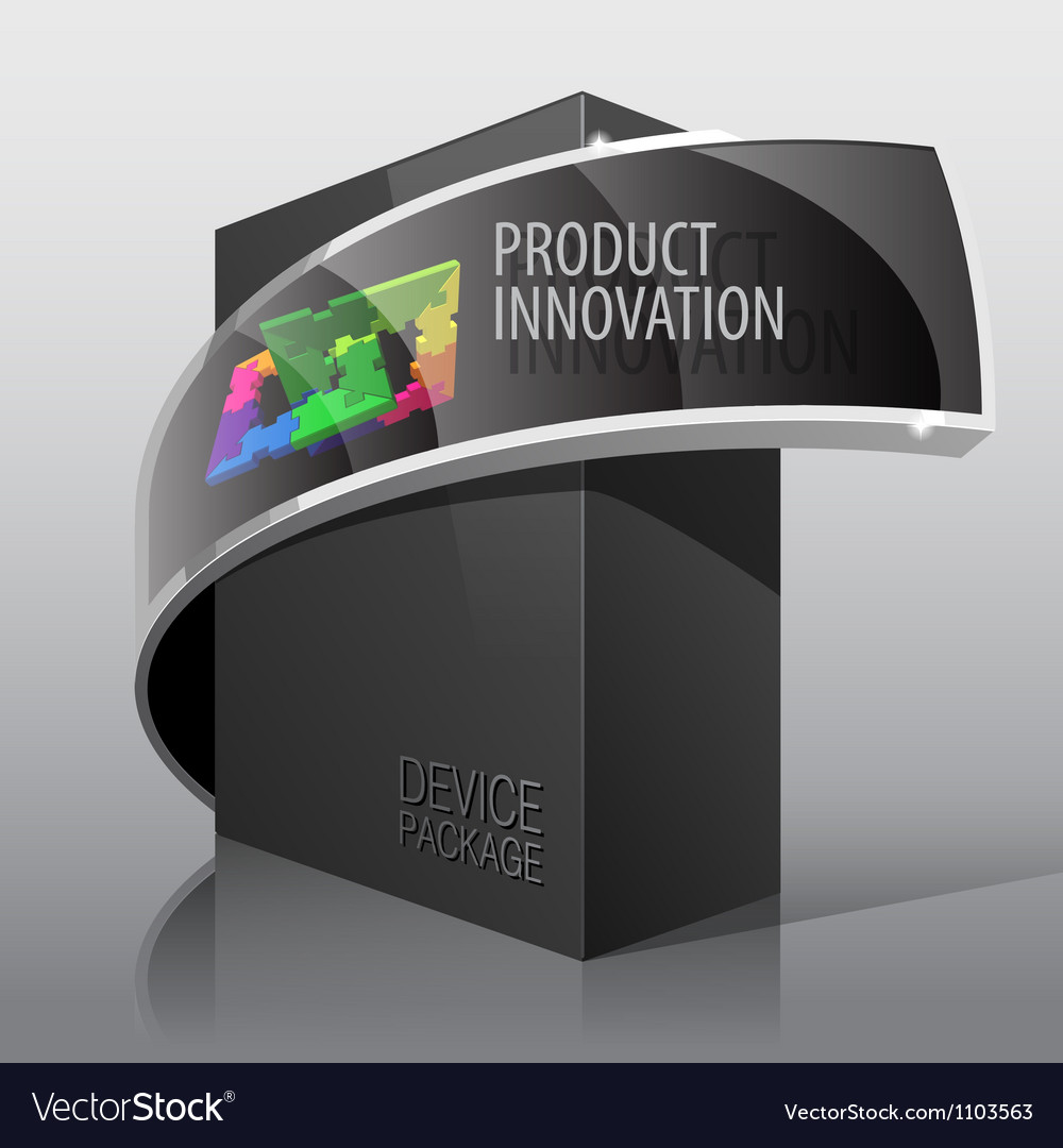 Dark package cardboard box for presentation vector