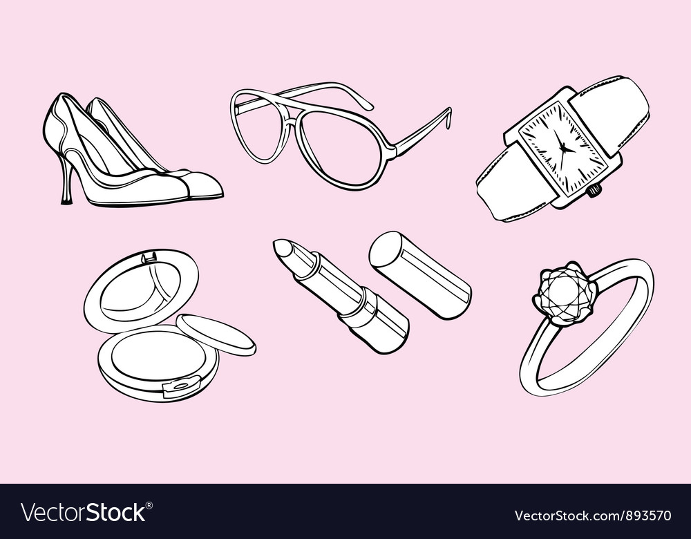 Woman style design elements vector