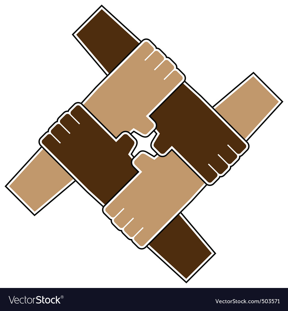 Teamwork symbol vector