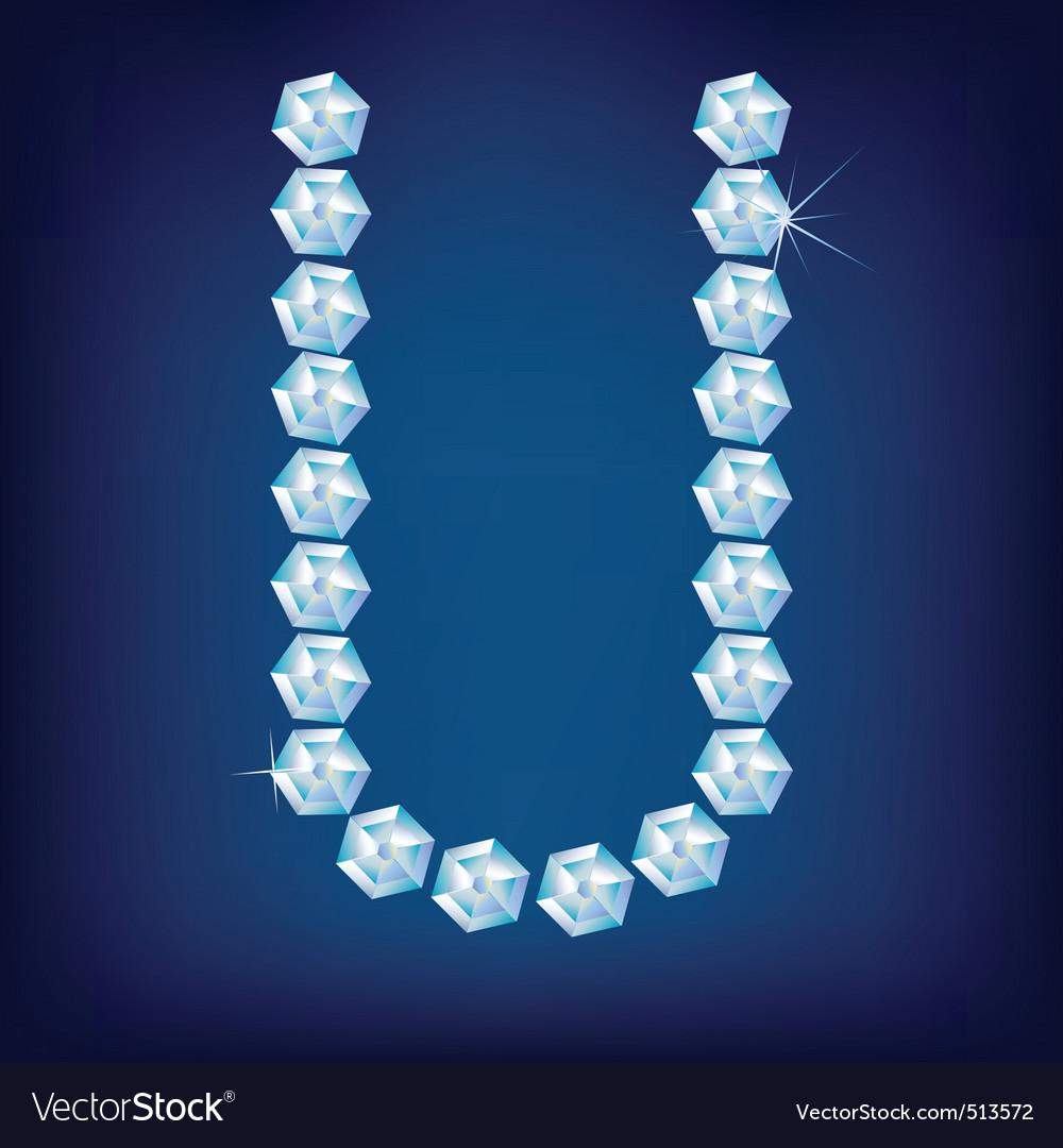 U Alphabet In Diamond diamond alphabet lette u