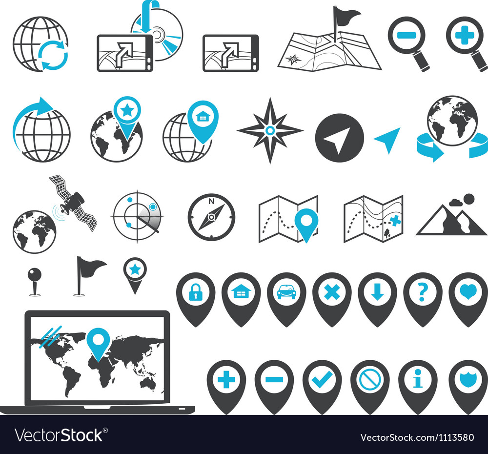 Location icons vector