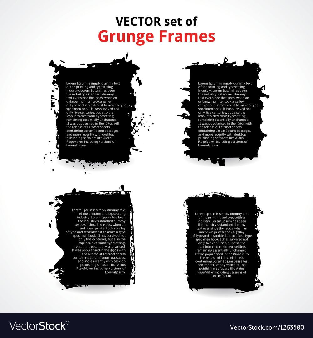 Set of grunge frames vector