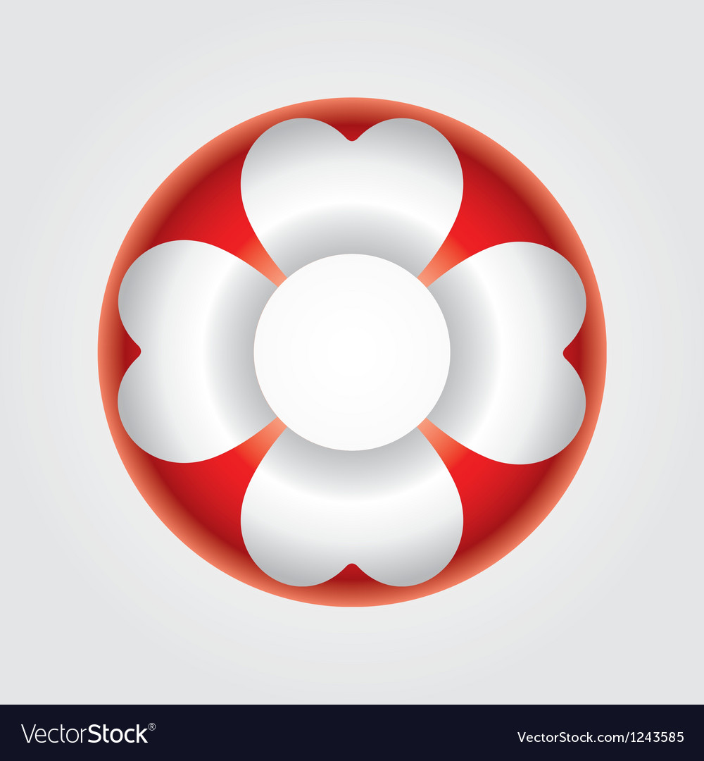 An isolated life-buoy icon vector