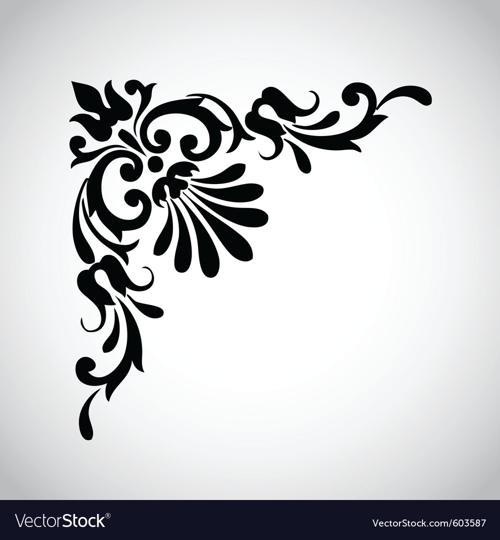 Decorative vintage design element 2 vector