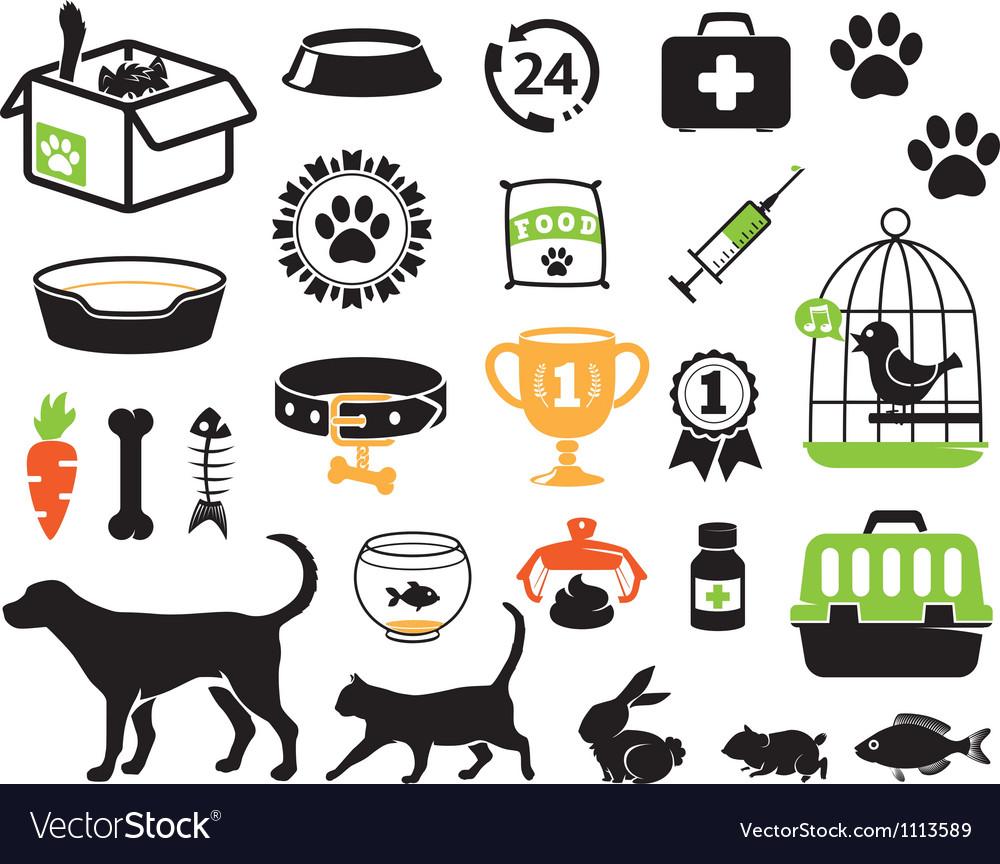 Petshop set vector