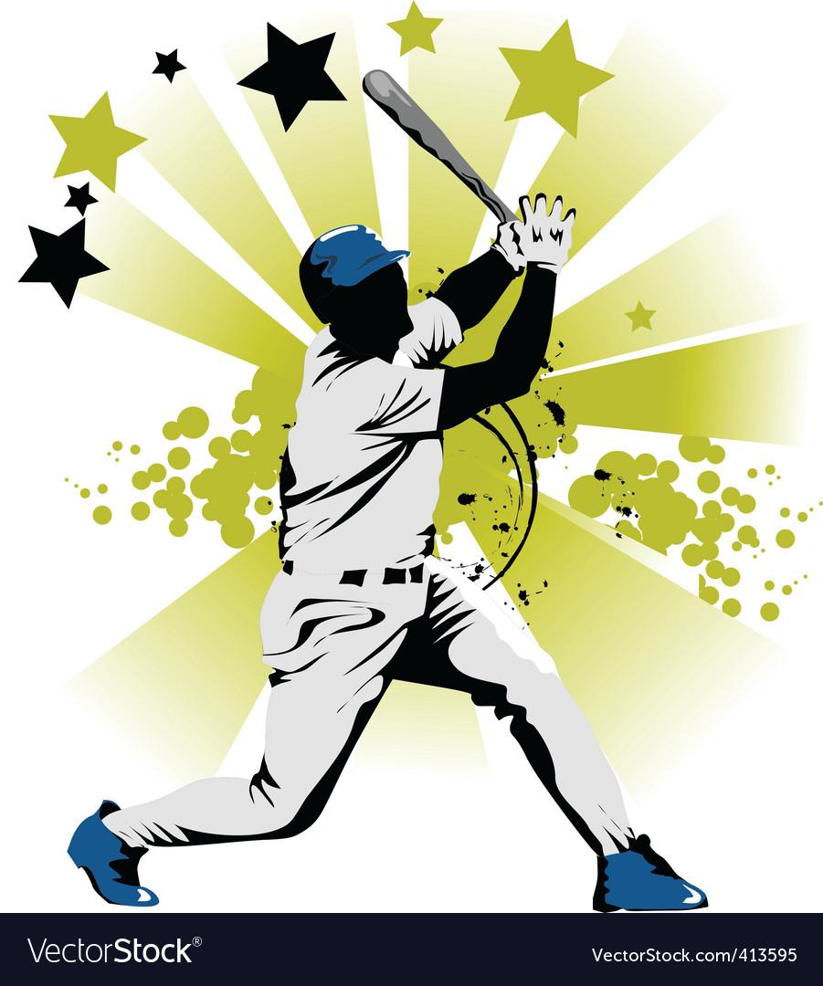 Baseball star vector