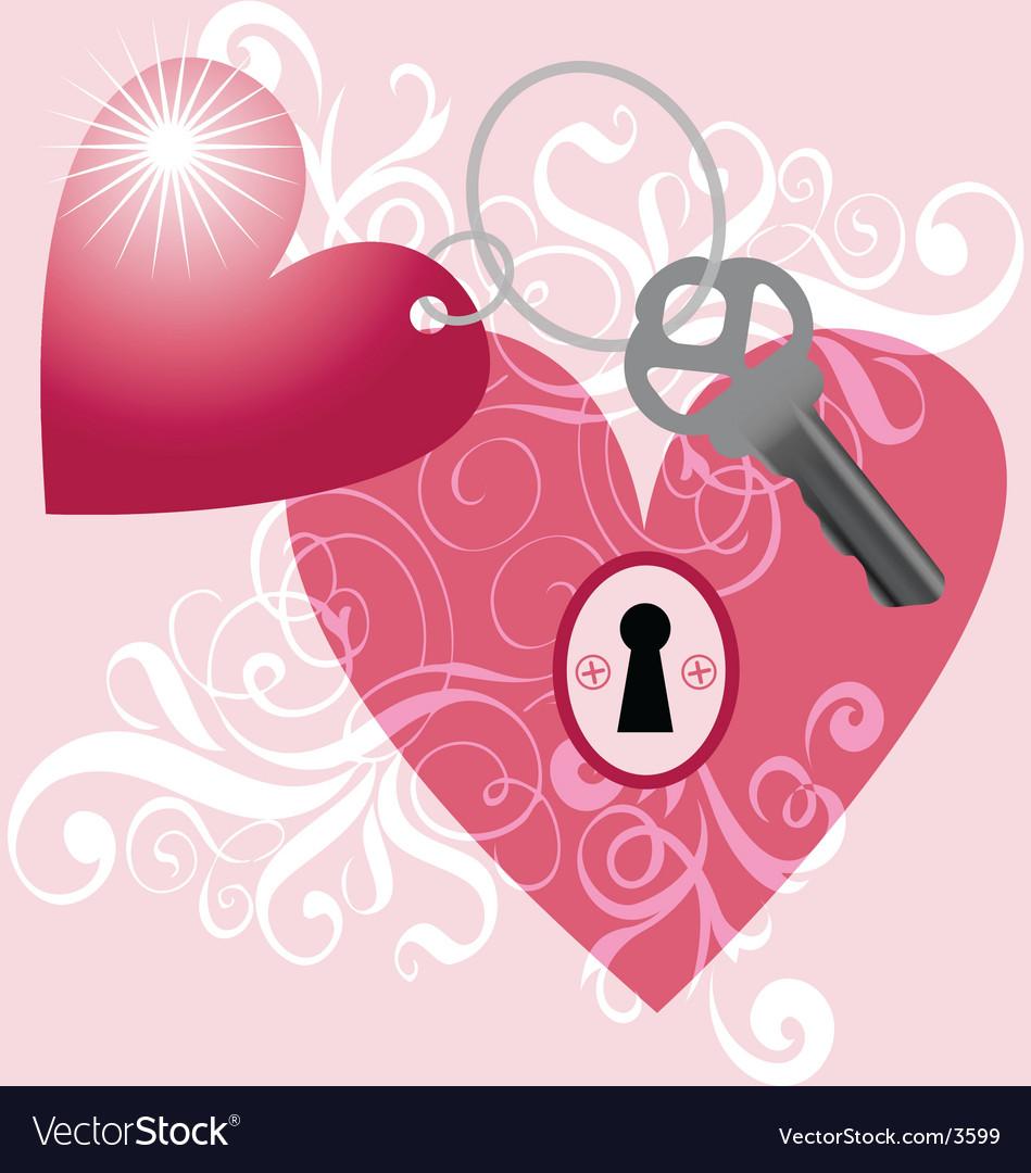 Key to my heart vector