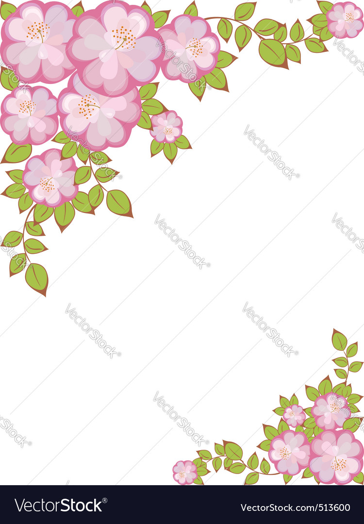 Frame with floral pattern vector