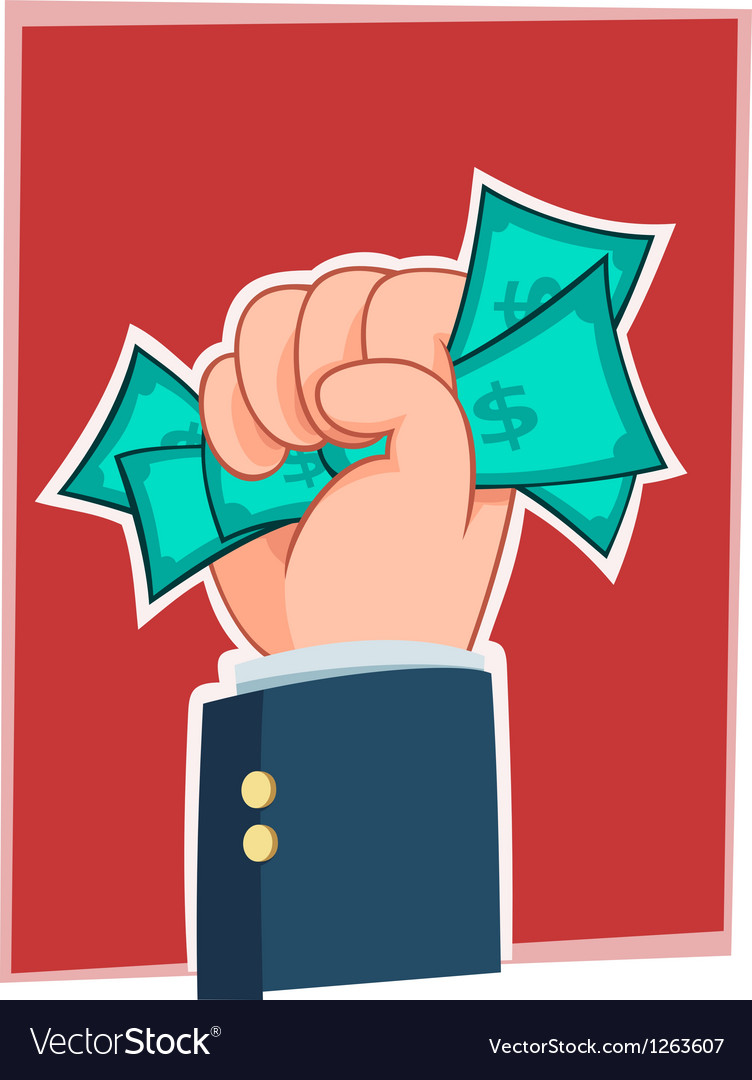 Handfull of money vector