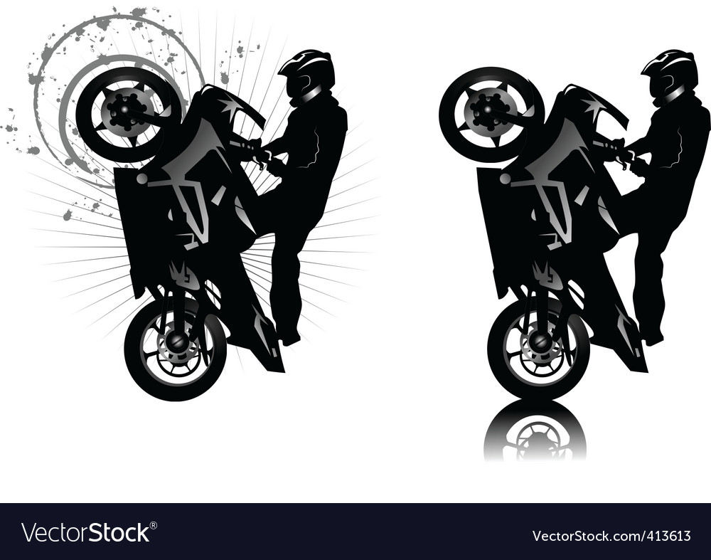 Motor cross vector