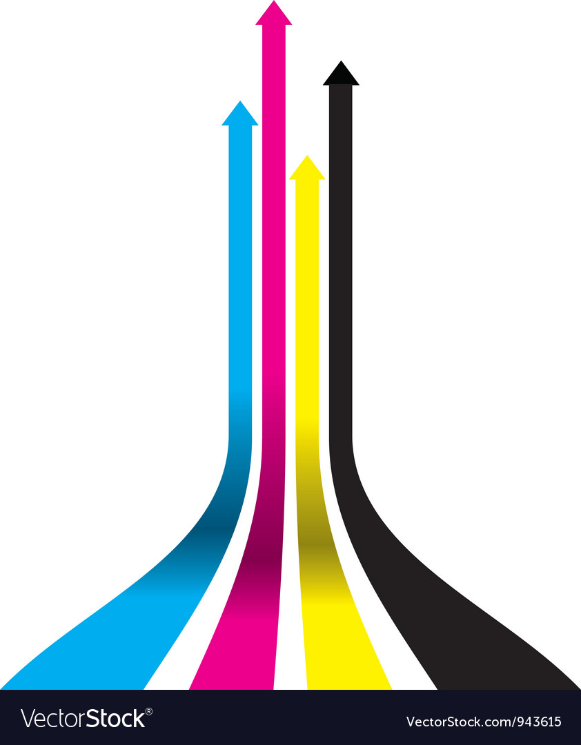 Cmyk arrows vector