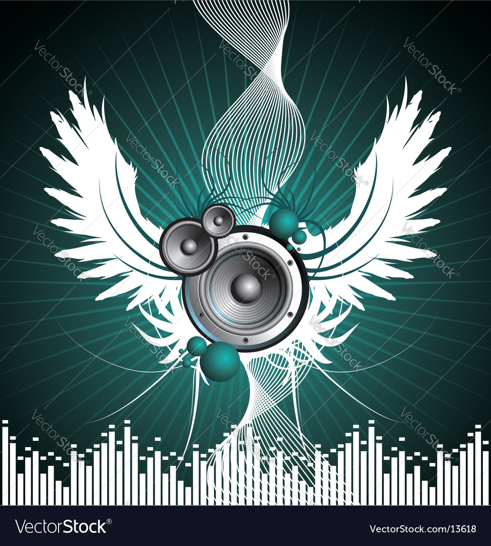 For musical theme vector