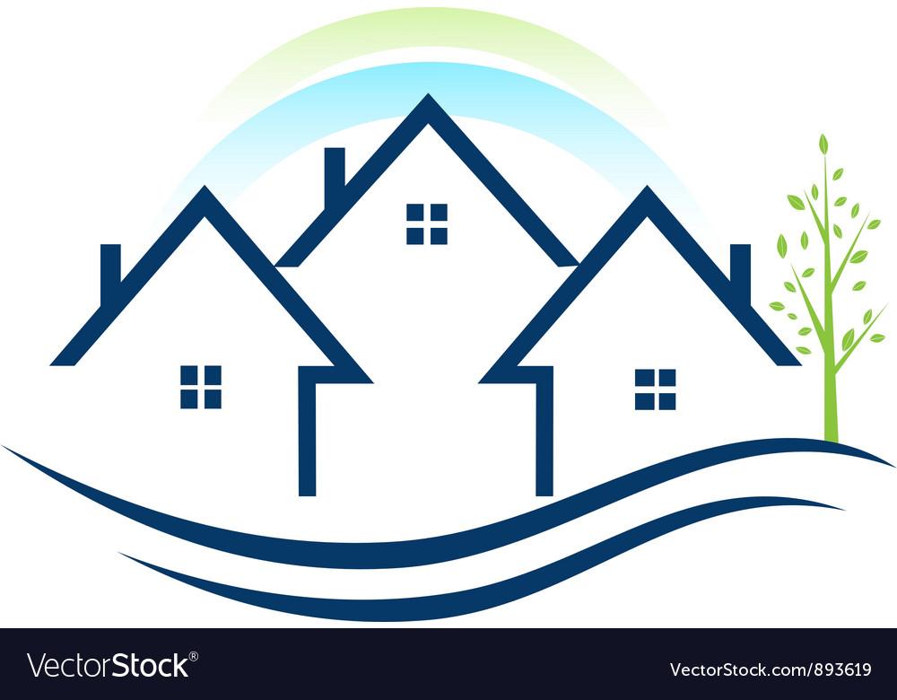 Houses apartments logo vector