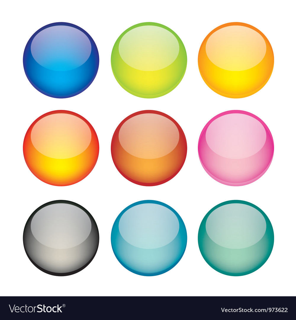 Set of network sphere icons vector