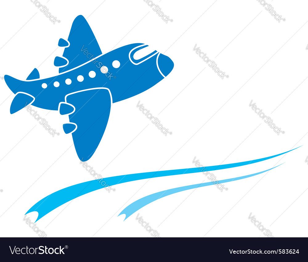 Blue aeroplane vector
