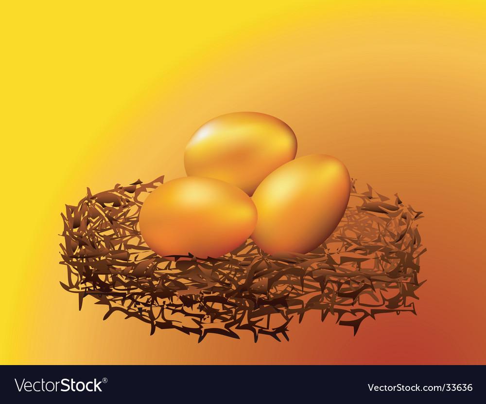 Golden eggs vector