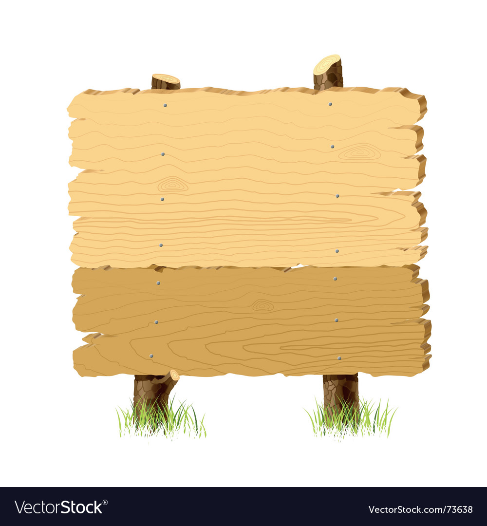 Wooden signboard vector