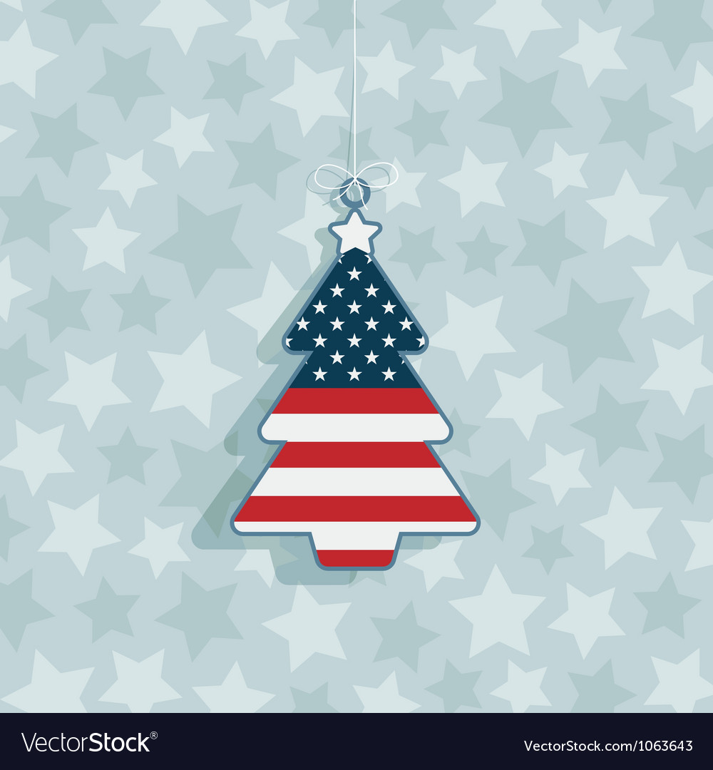 Usa christmas decoration vector