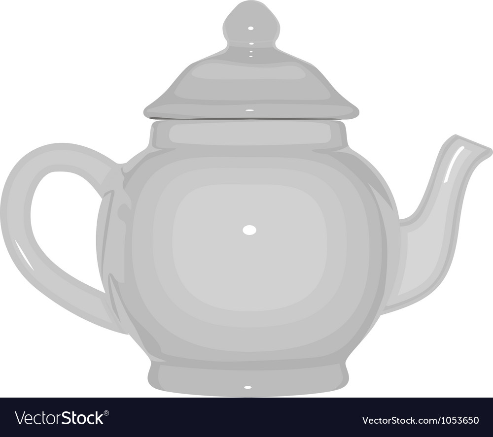 White teapot vector