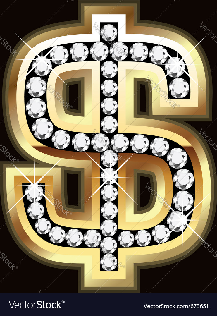 Dollar bling vector