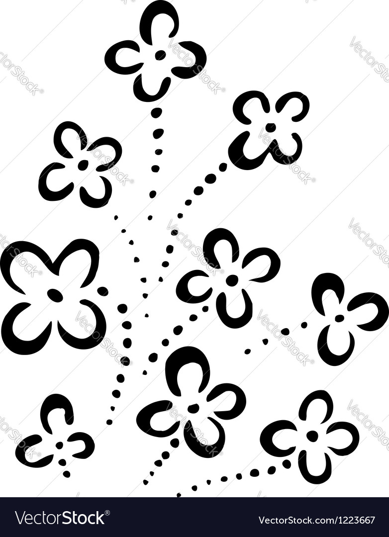 Abstract flowers vector