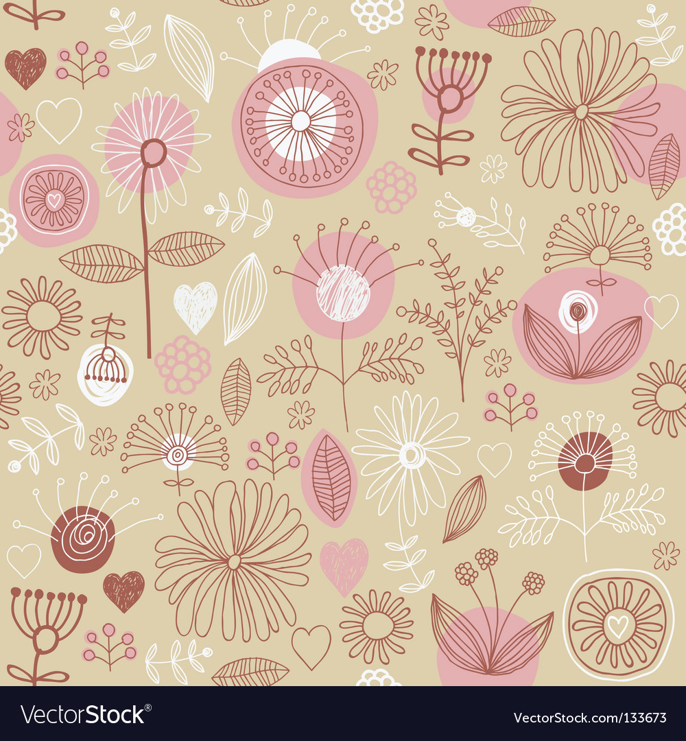 Floral background seamless pattern vector