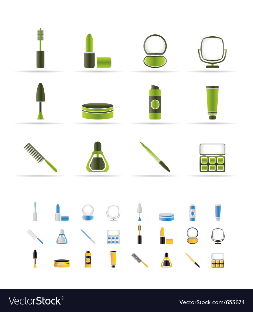 Cosmetic and make up icons vector