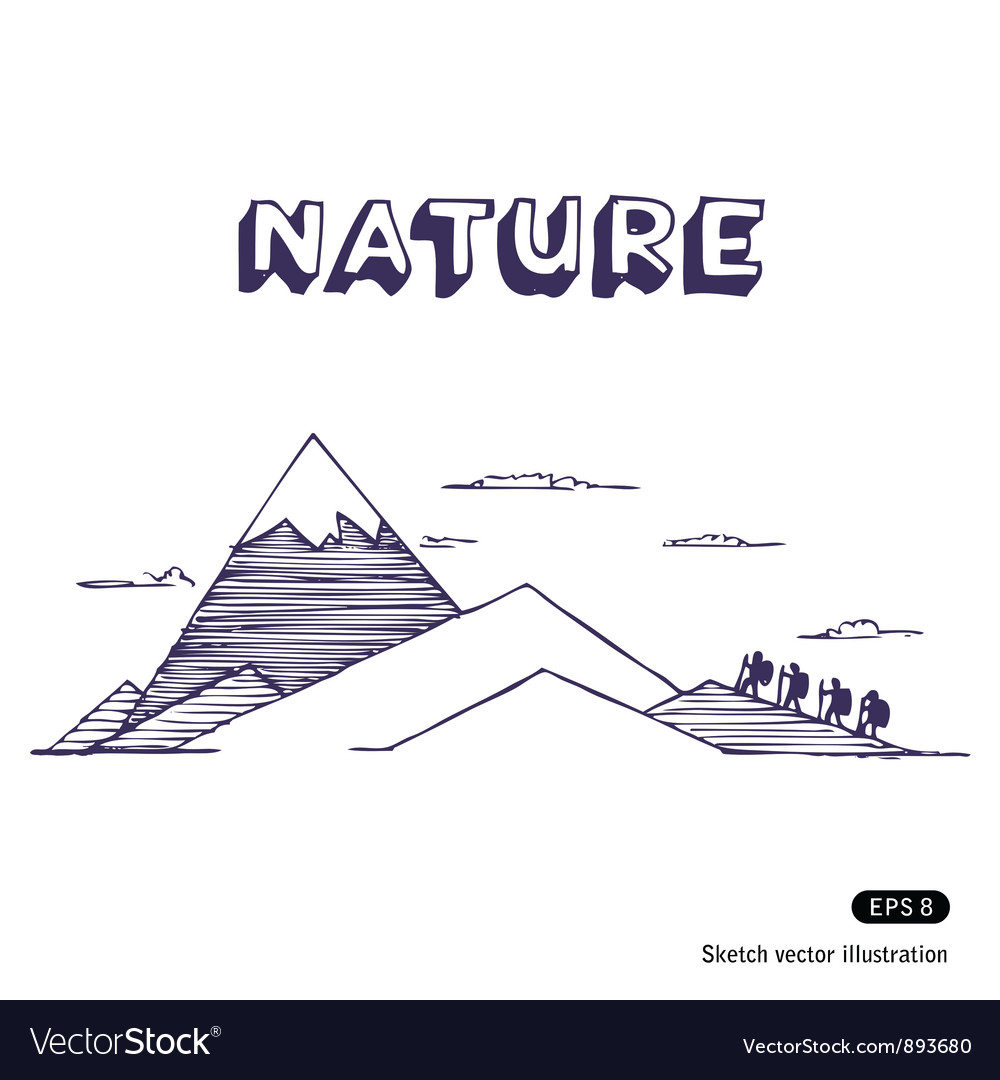 Mountaineering vector