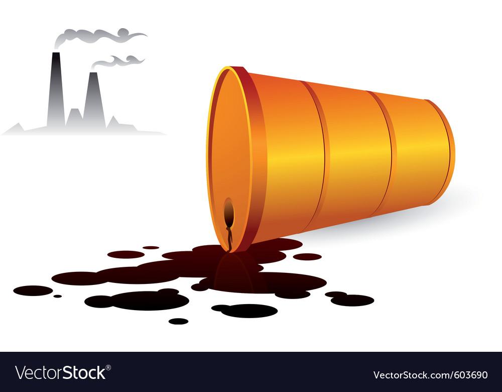 Oil spill vector