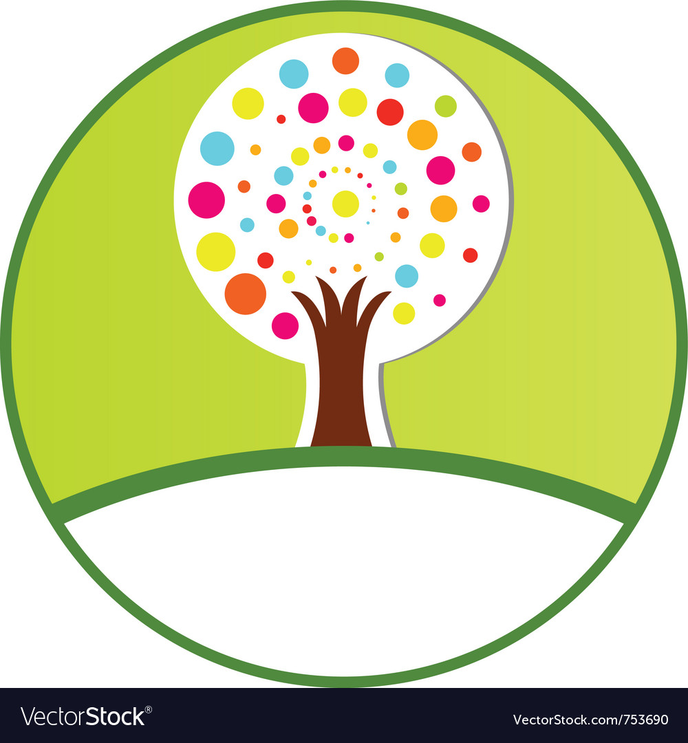 Free stylized tree vector