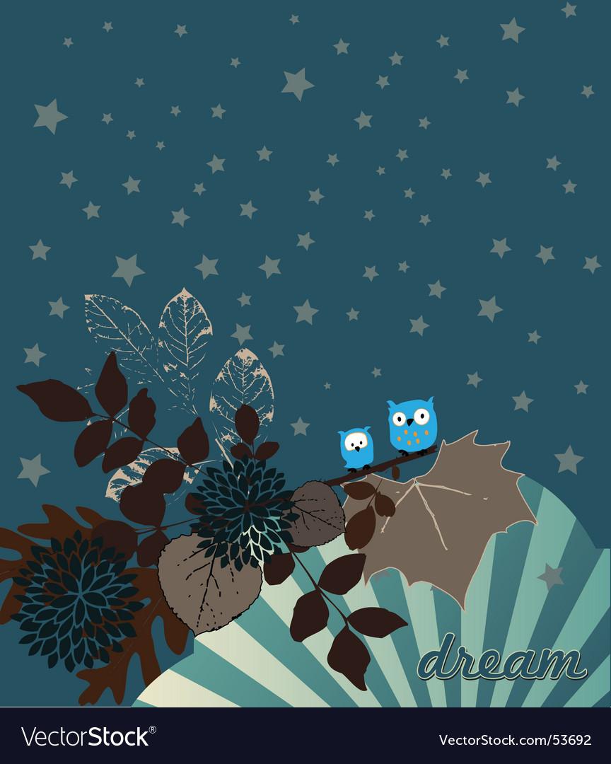 Night owls illustration vector