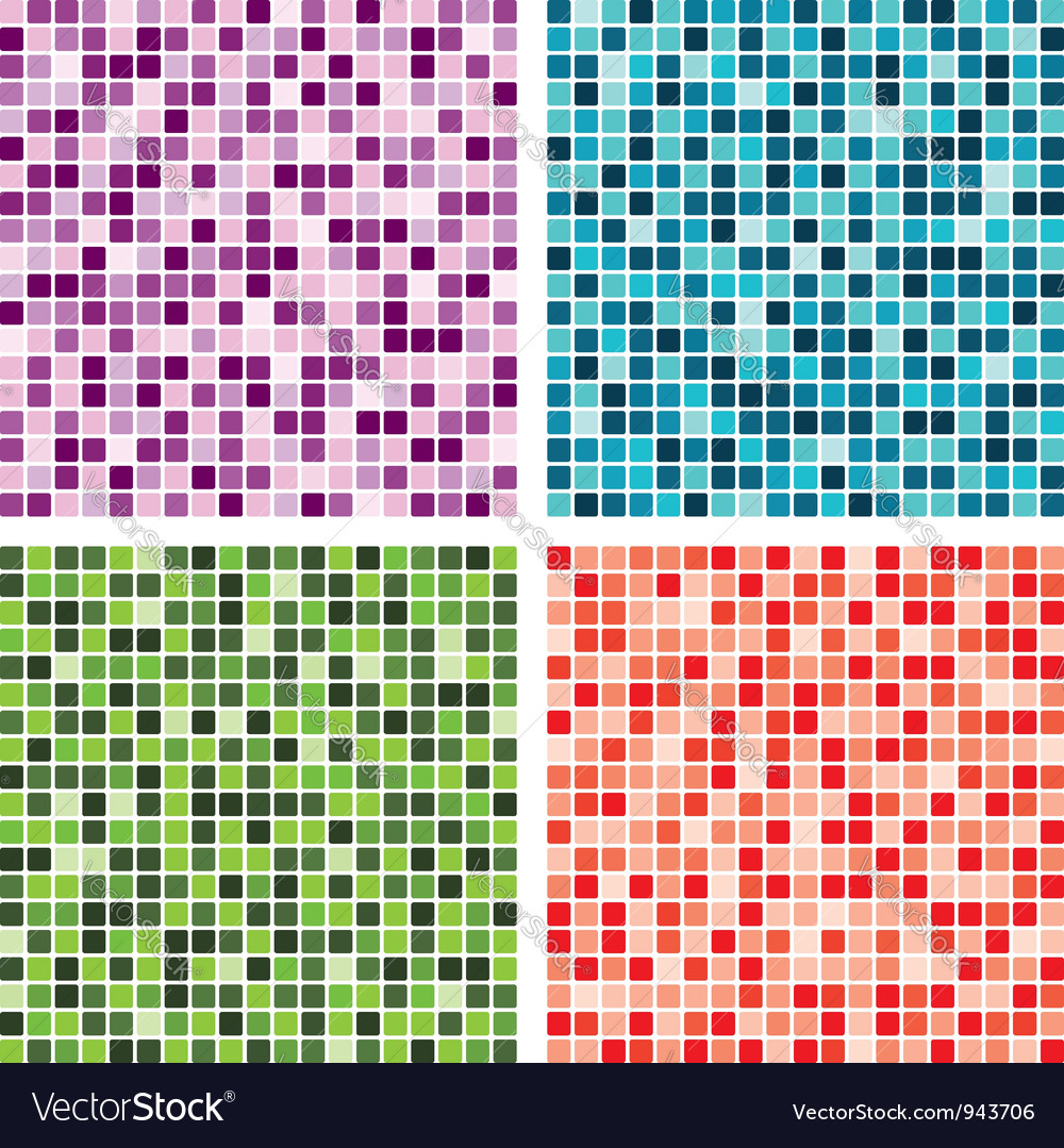 Abstract tile backgrounds vector