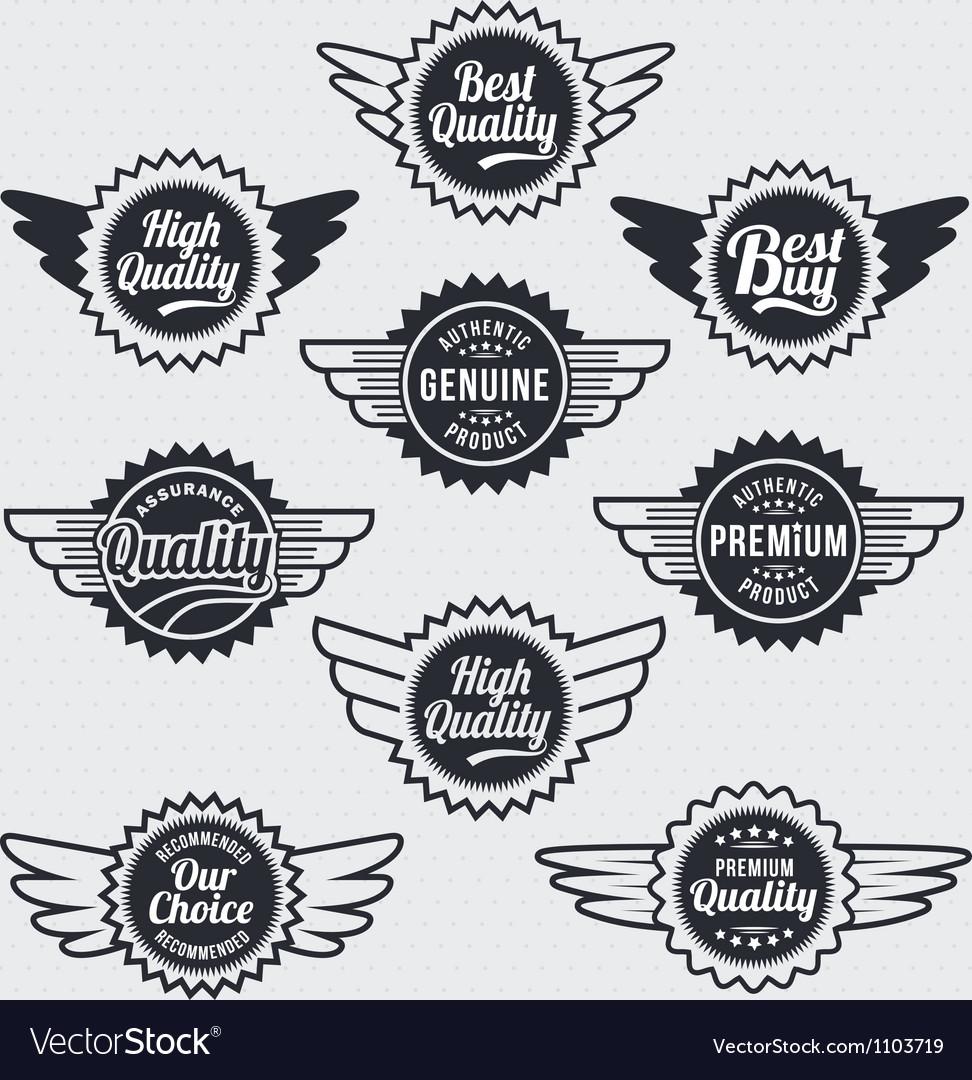 Retro vintage label badge set vector