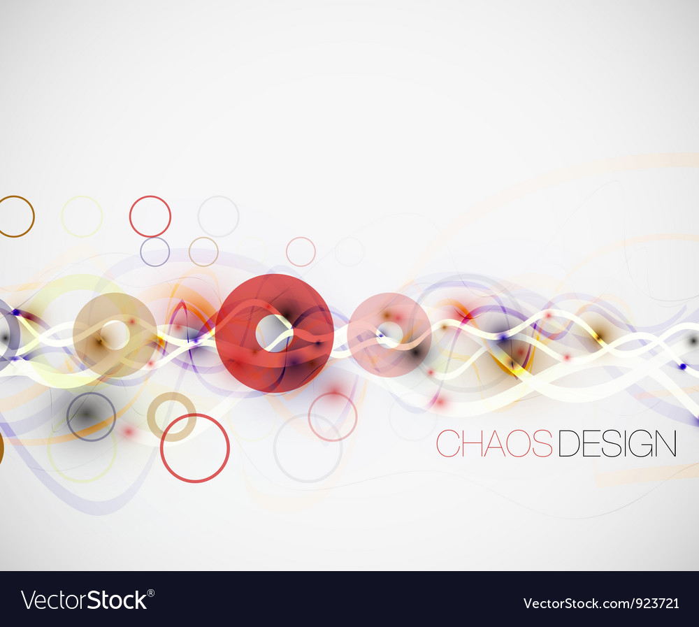 Abstract chaos lines background vector