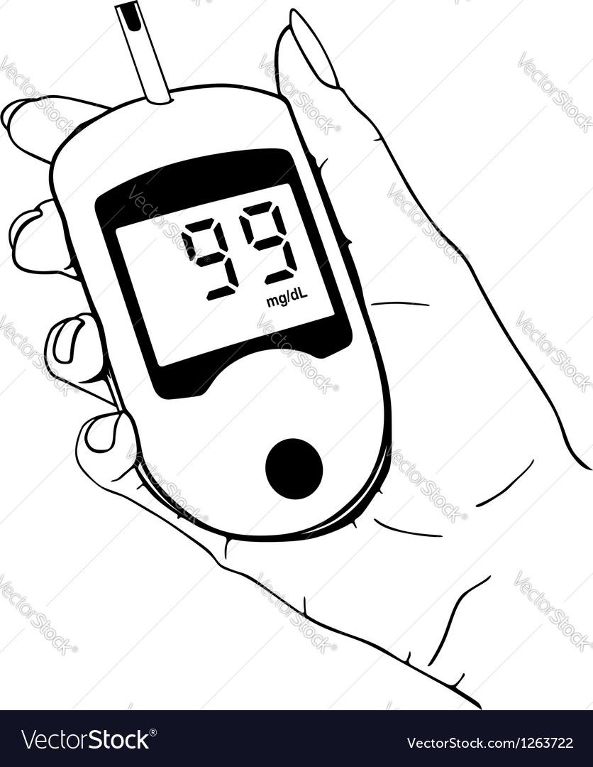 Home glucose meter vector