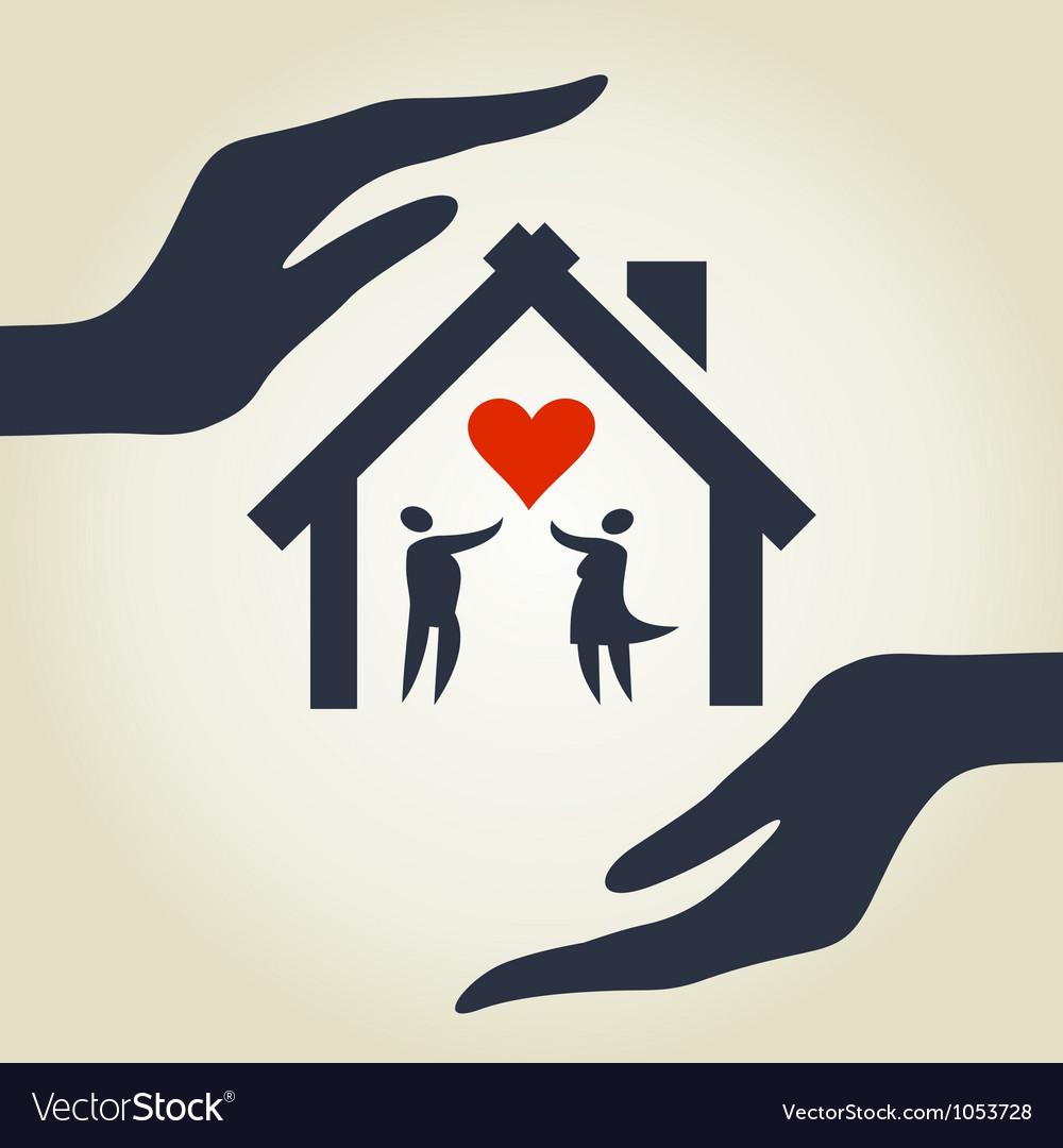 Love house vector