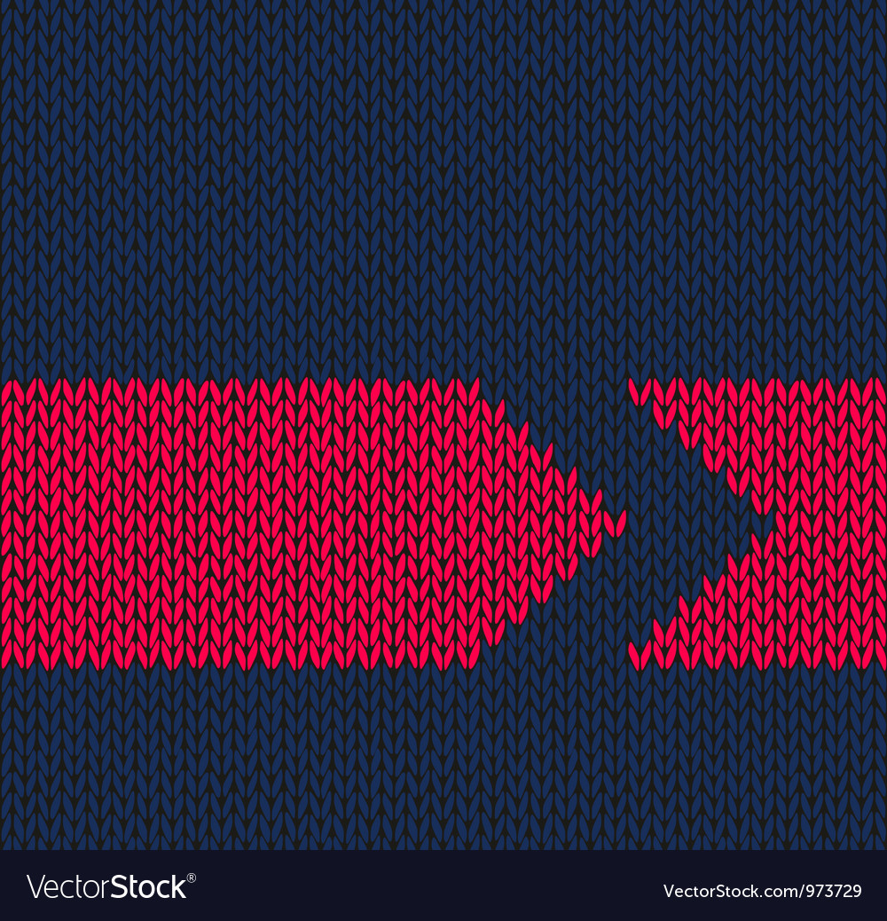 Arrow seamless knitted pattern vector