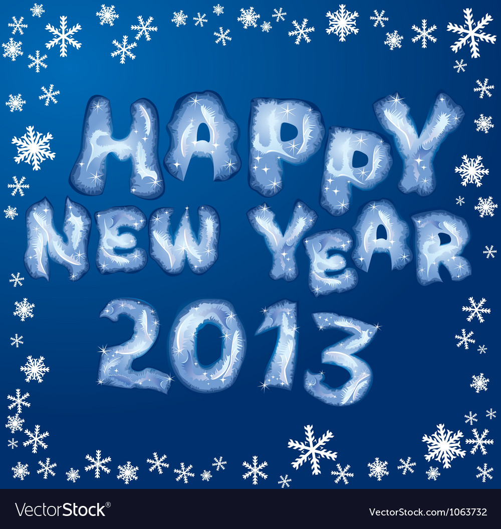 Happy new year card 2013 vector