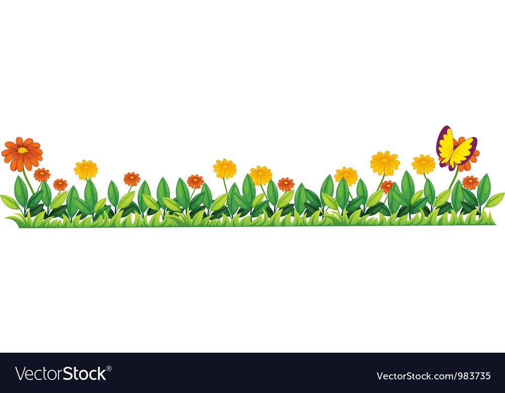 Flower Bed Vector By Iimages Image 983735 Vectorstock